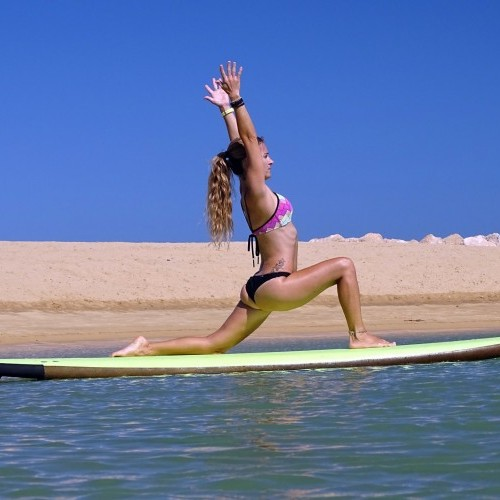 Anjaneyasana / Low Lunge Wings Foils SUP Surf Technique